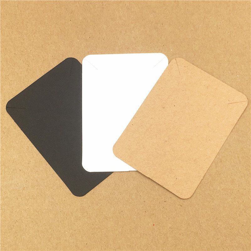 50Pcs Classical Blank Handmade Kraft Paper Cardboard Necklace Card For Jewelry Displays And Packing Cards Multi-Color 7.8x5.6cm
