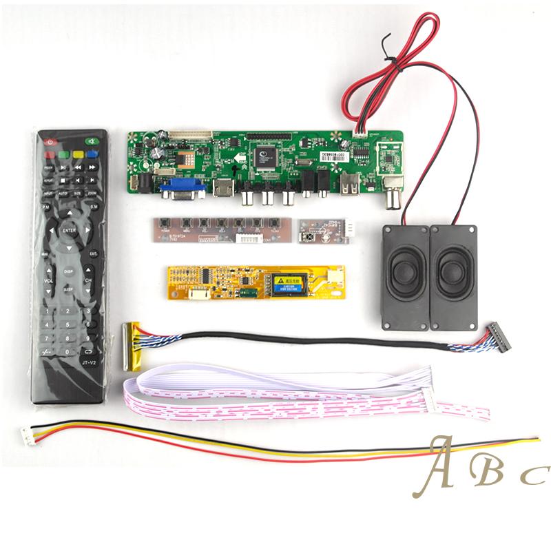 Prix pour HDMI USB VGA AV TV Audio Carte Contrôleur + Onduleur + Lvds câble + À Distance + Haut-Parleur pour LP154WX4 1280x800 1ch 6 bits LCD affichage