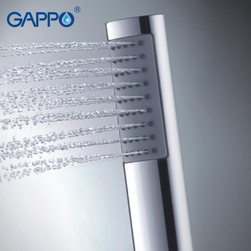 Gappo 1Pc rain shower head Round hand shower heads bathroom accessories ABS in chrome Plated water saving shower head