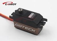 Goteck lower profile high speed digital brushless dc servo motor BL1511SG metal gear with 10/12kg cm in 4.8V/6V for Car model