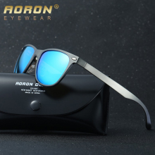AORON Men Polarized Sunglasses Luxury Aluminum Magnesium Sun Glass HD Driving Glasses UV400 Mirror Coating Eyewear Male Goggles
