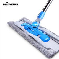 Mop plana rotação torção piso duro pó de lixo pele óleo limpeza balde magia fácil microfibra preguiçoso rodo esfrega esfregões|rotating mop|spray mop|twist mop -