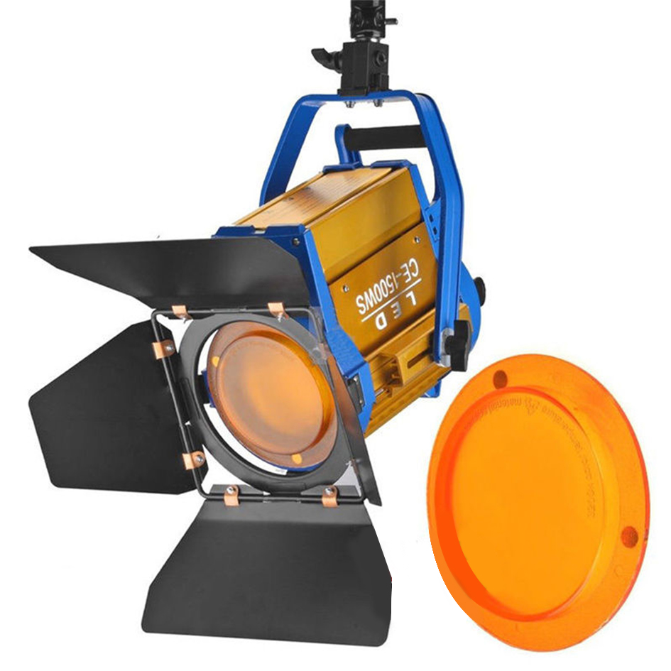 ALUMOTECH Wireless Remote + Bi color 150W LED Fresnel Spotlight For Video Studio Cemera Lighting