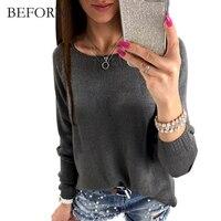 BEFORW Autumn Winter Comfortable Long Sleeves T Shirt Back Zipper Fashion T Shirt Women Personalise Womens