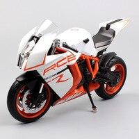 1/10 schaal welly KTM 1190 RC8 R Motorfiets collectible miniaturen Diecast super fiets model motorbike cars racing speelgoed voor volwassenen