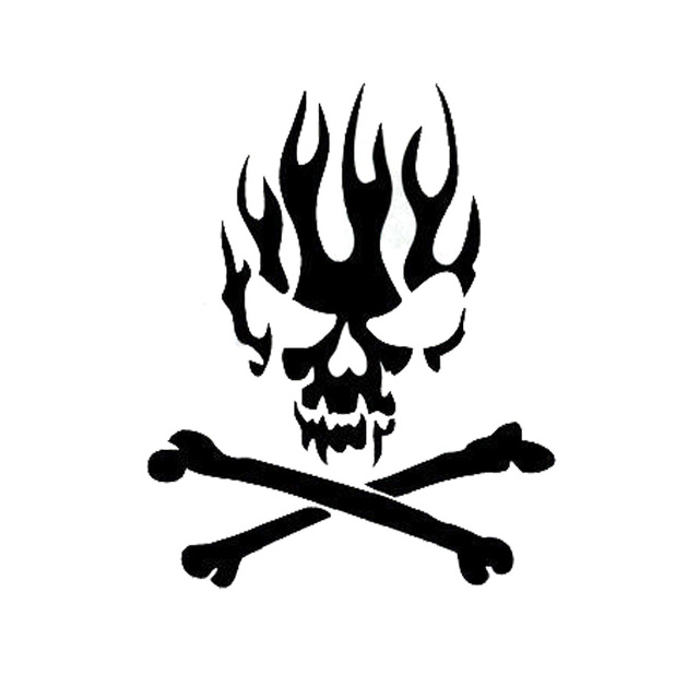 12 215 2cm personalized car stickers skull cross bones stylish motorcycle vinyl decals black