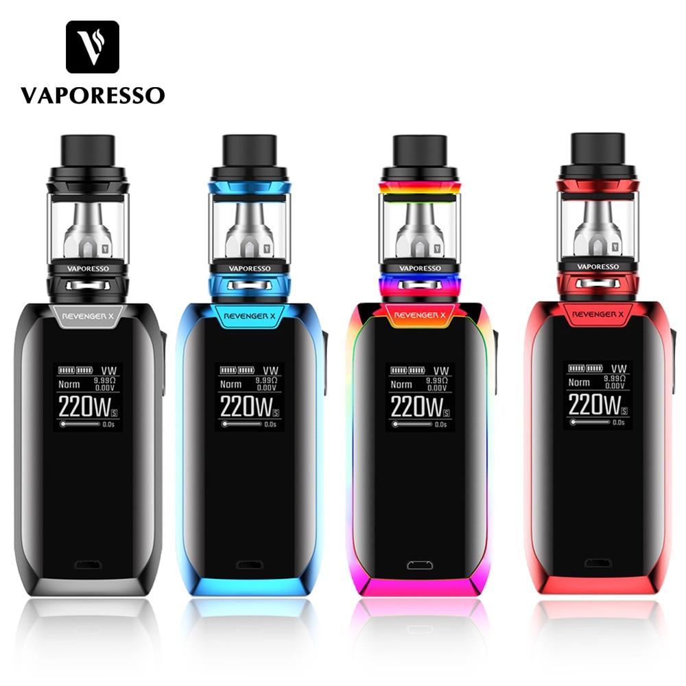 E cigarettes 220W Vaporesso Revenger X TC Kit Revenger X box Mod With 5ml NRG Tank