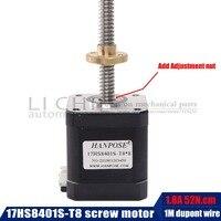 48mm nema17 stepper motor with T8 screw lead 2/4/8mm 300mm 42 motor 3d print motor 42BYGH mill cut cnc engraving machine