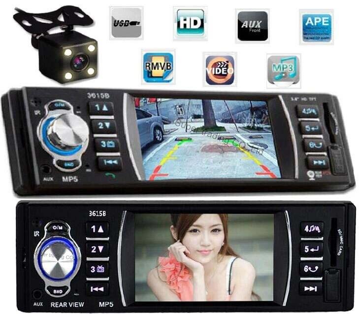 imágenes para 1 DIN radios autos párrafo 12 V Car Stereo FM Radio de coche MP3 Apoyo Reproductor de Audio de radio auto Bluetooth USB/SD MMC + Cámara de Visión Trasera