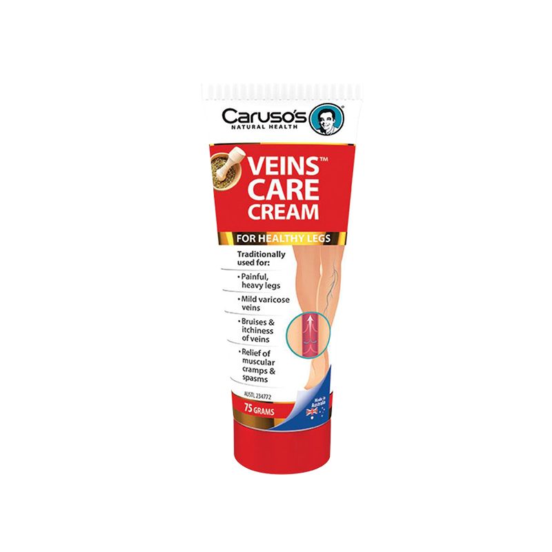 Australia Carusos Health Vein Clear Care Cream 75g for Varicose Spider Veins Great Looking Healthy Legs Vein Strength Elasticity