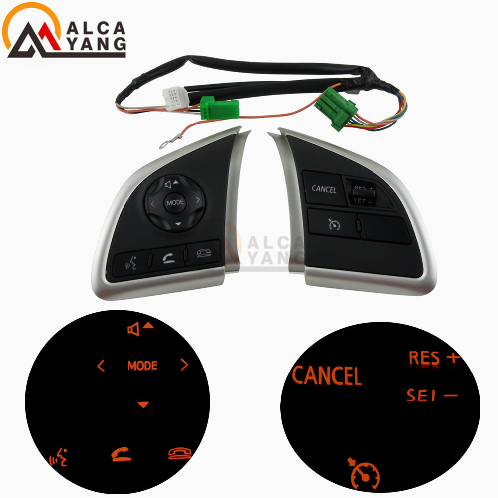 For Mitsubishi Outlander 2016 2017 2018 Xpander Cruise Control Switch Steering Wheel Control Switch Button Audio
