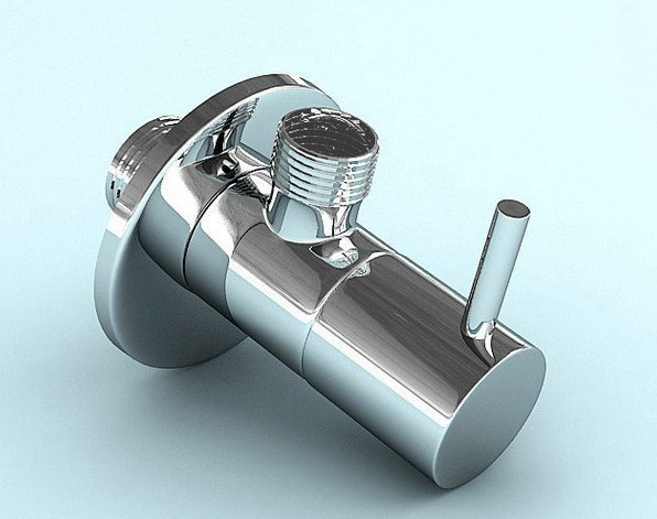 2014 top fasion polished chrome brass tap toilet bathroom basin laundry machine angle stop valve thread accessories - Crazy Deals Store store