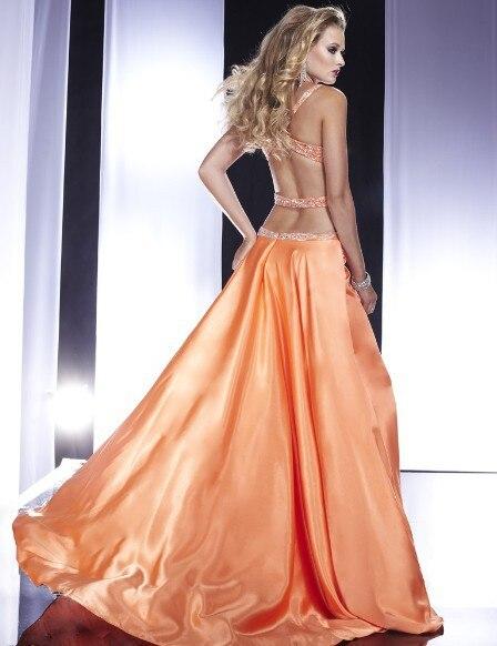 Livraison gratuite 2013 nouveau mode vestidos de festa fête formelle perle de cristal robe élégante sexy dos nu longues robes de bal - 2