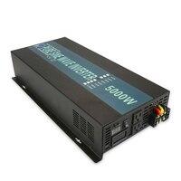 Чистый синусоидальный солнечный инвертор 12 В 220 В 5000 Вт постоянного тока в AC от сетки мощность Инвертор мощность банк конвертер 24 В/36 В/48 В до