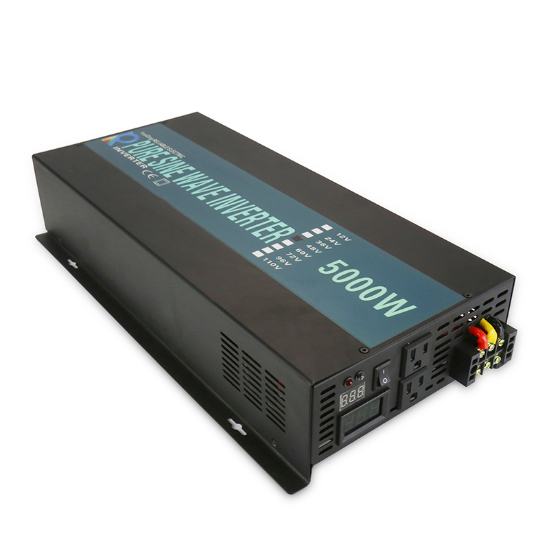 Onda Sinusoidale pura Solar Inverter 12 V 220 V 5000 W DC ad AC Off Grid Inverter di Potenza del Convertitore Accumulatori e caricabatterie di riserva 24 V/36 V/48 V a 120 V/230 V/240 V