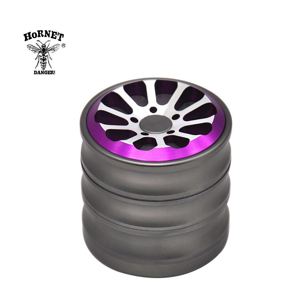 HORNET Wheel Air Craft Grade Aluminum Tobacco Herb Grinder 60MM Sharp Diamond Teeth Spice Mill Crusher Herbal  Grinder