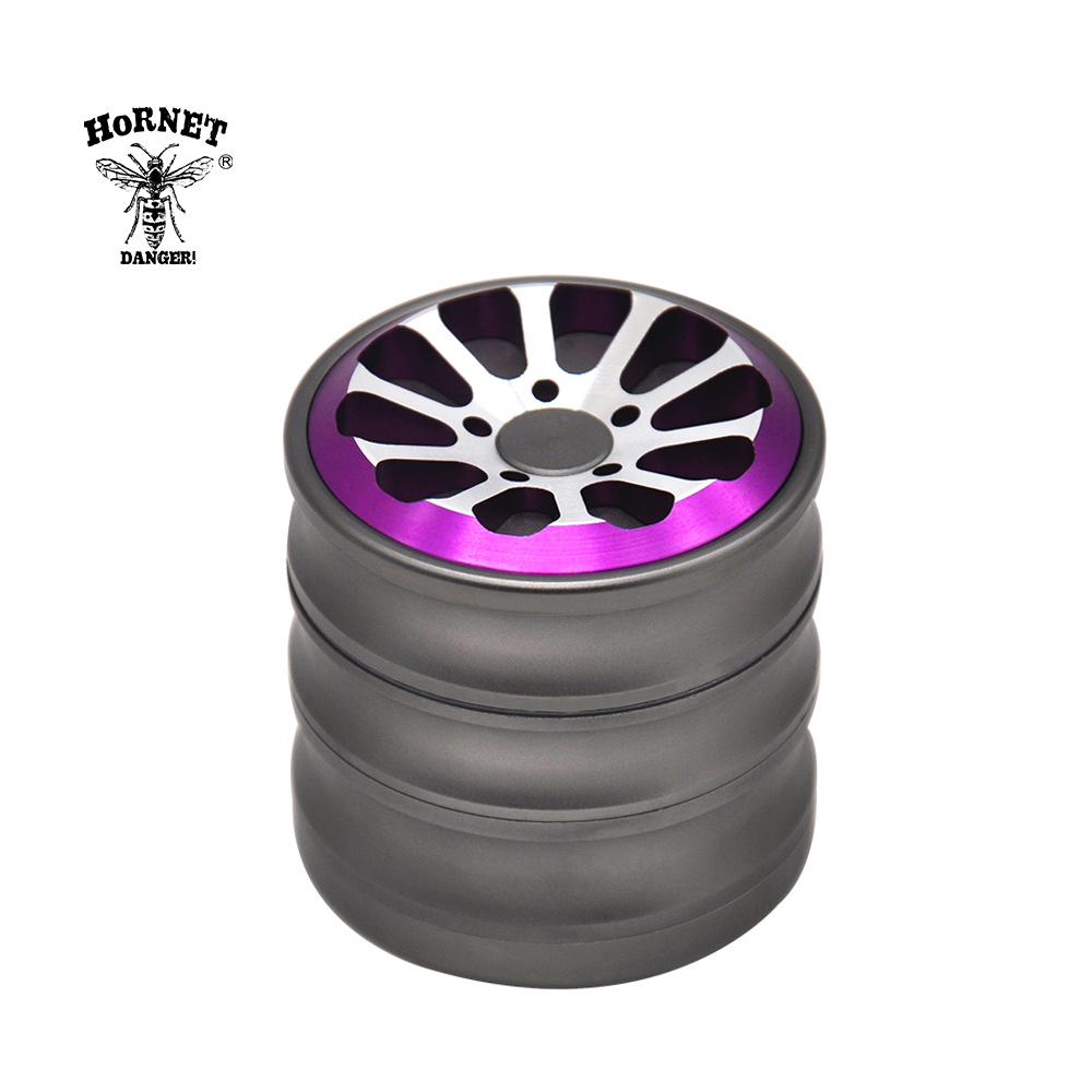 HORNET Wheel Air Craft Grade Aluminum Tobacco Herb Grinder 60MM Sharp Diamond Teeth Spice Mill Crusher Herbal Weed Grinder