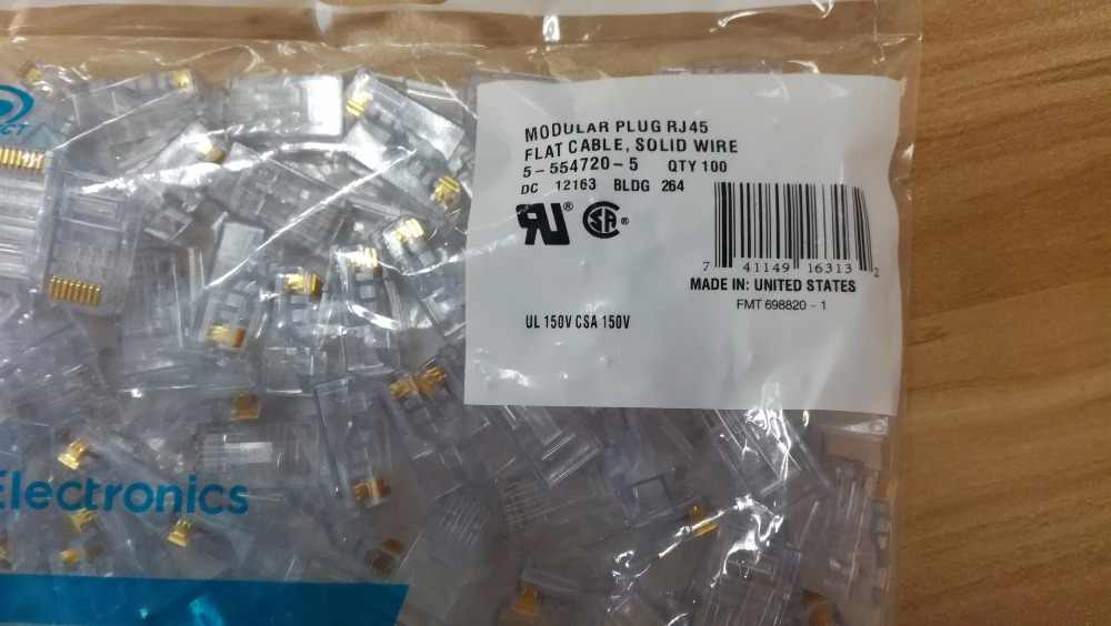 Cable Length: Other, Color: Grey Occus Cables 50PCS CAT5E//CAT6//CAT6A UTP RJ45 Connector and Boot