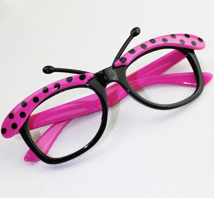 06fafd0345 New style 2015 Super cute fashion butterfly kids glasses cartoon frames  Children dots eyeglass frame multicolor