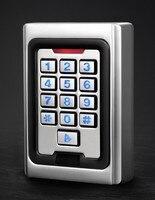 Autônomo de Controle de Acesso Do Teclado Metal case Teclado de Silicone de Segurança Porta de Entrada Leitor de Cartão RFID 125 Khz LOS