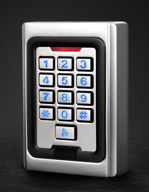 Standalone Keypad Access Control Metal case Silicon Keypad Security Entry Door Reader RFID 125Khz EM Card
