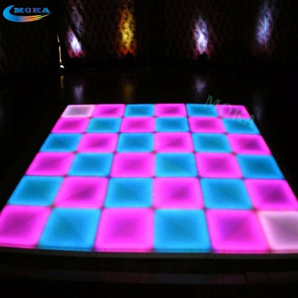 48 квадратный метр 1 м * 1 м DMX СВЕТОДИОДНЫЙ танцпол RGB светодиодный DJ Light пол Светодиодный свет сценический эффект свадебные Танцы пол