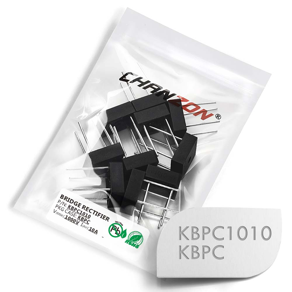 <font><b>10</b></font> Pcs KBPC1010 Bridge Rectifier Diode 10A 1000V KBPC 1010 Single Phase Full Wave <font><b>10</b></font> Amp <font><b>1000</b></font> Volt Silicon image