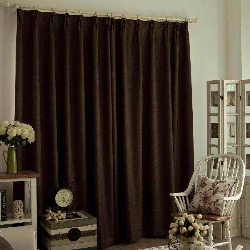 Nuevas promociones! lino cortinas oscuras llenas / restaurante