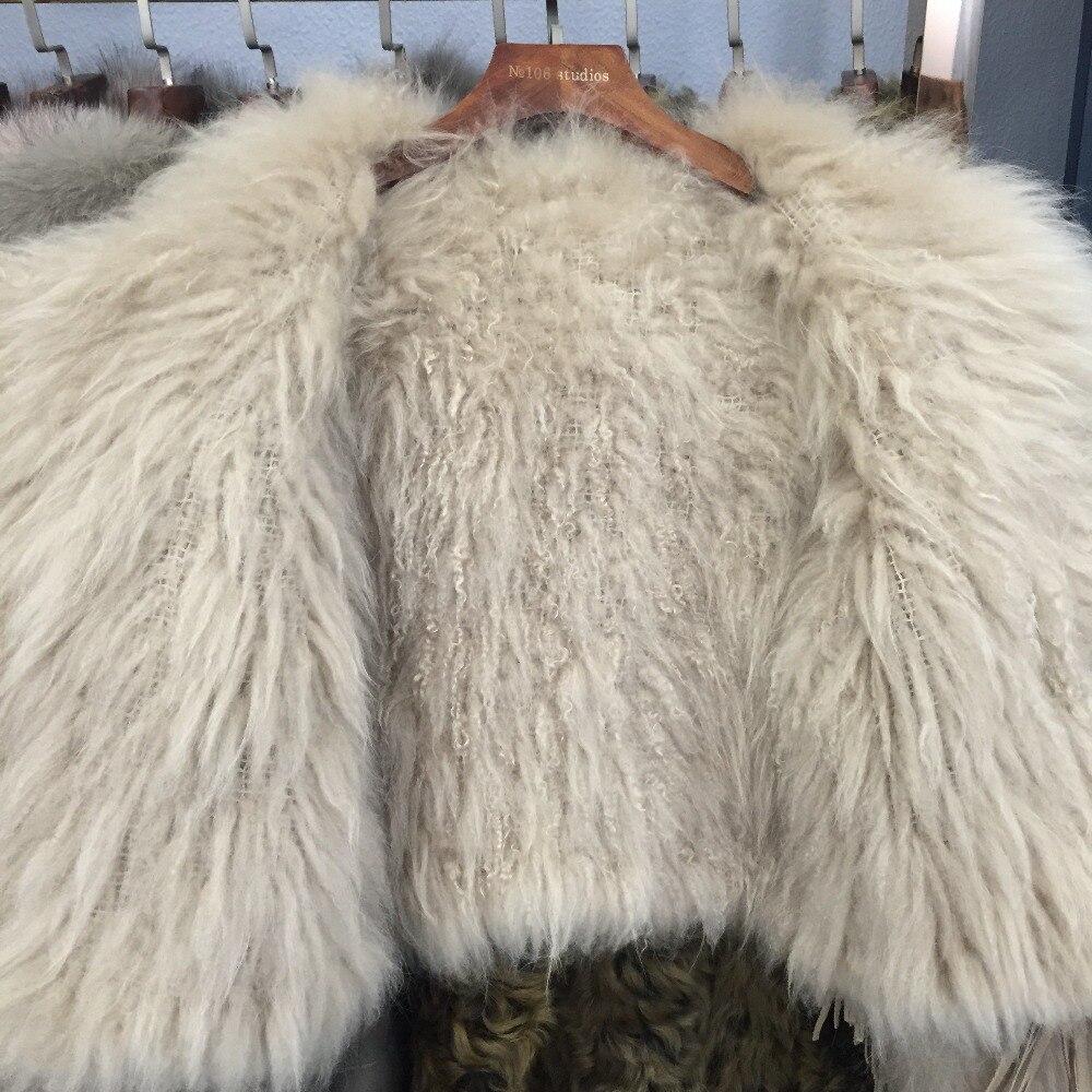 Femmes Manteau Qualité Fourrure Champagne Mongolie Tricoté Mouton Fur Veste Haute Lady Sqxr De wA0Fv0q