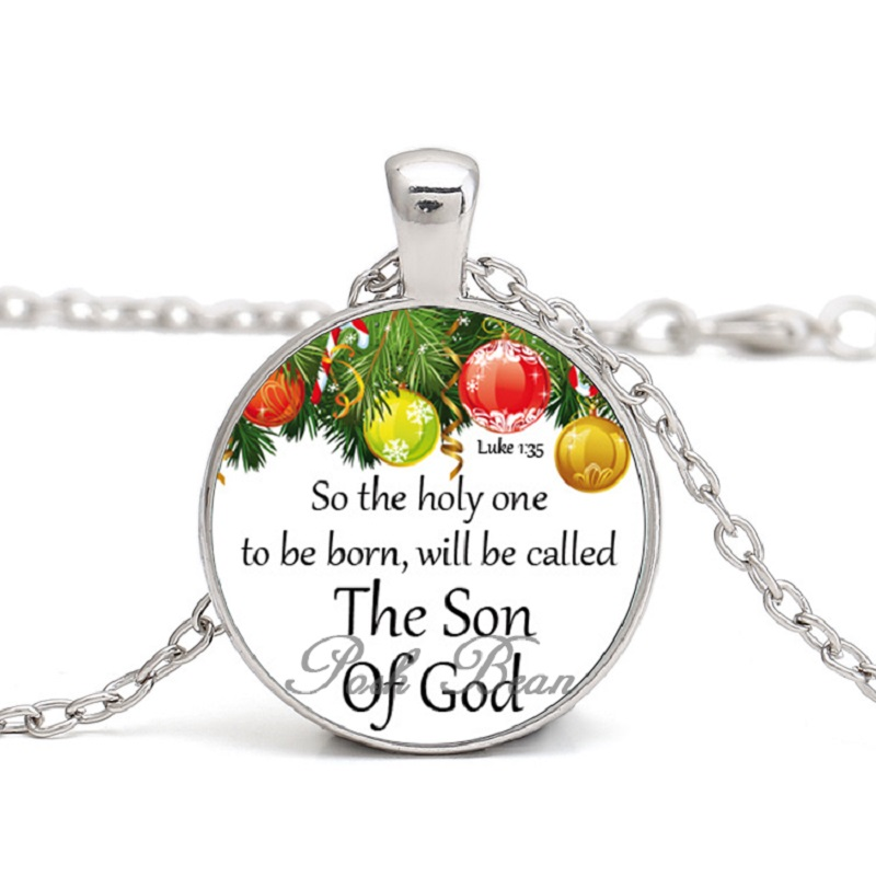 Religious Christmas Gifts.Us 2 09 Bible Verses Necklace Religious Christmas Jesus Inspirational Saying Glass Cabochon Christian Quote Jewelry Gifts For Kids Women In Pendant