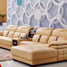 Высокое качество Европейский гостиной кожаный диван o1208