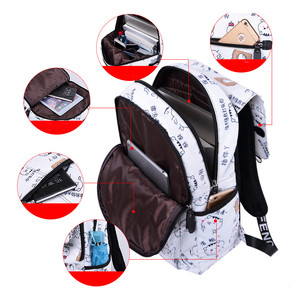 Image 4 - Школьные ранцы OKKID для девочек, женский рюкзак для ноутбука с usb разъемом, Детские рюкзаки, школьный ранец с милым котом для девочек