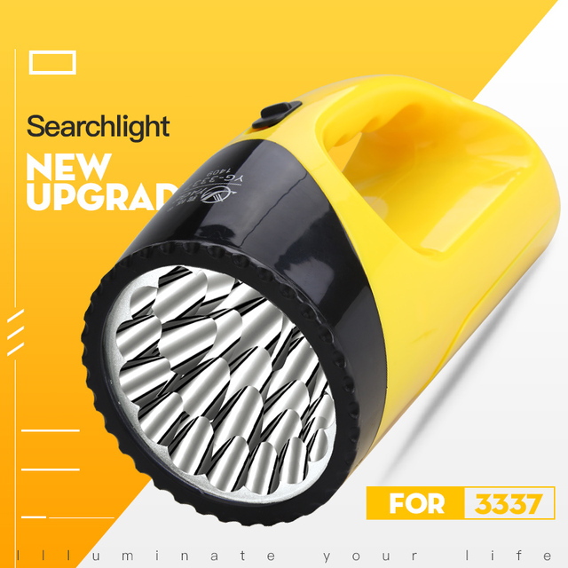Yage 3337 Portable Light Led Spotlights Lantern Touch Lintena Flashlight Camping Lampe Rechargeable