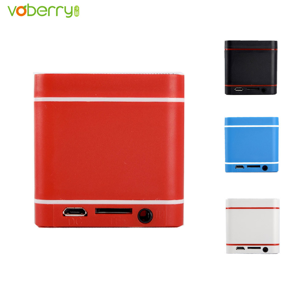 VOBERRY MIini Portable Super Bass Multifunctional Bluetooth Speaker Square Mp3 Music Player Speakers For SmartPhone Tablet PC