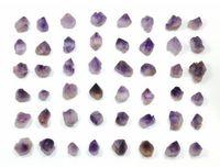 50 Pcs Amethyst Points Small Size Beautiful Bulk Gemstone Supplies For Jewelry Making Wicca Reiki