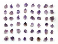 50 pcs Amethyst Points Small Size Beautiful Bulk Supplies for Jewelry Making, Wicca, Reiki