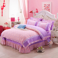 2015 New Winter Korean 100% cotton Comforter Luxury Bedding sets 4pcs set Bedspread bedclothes Bed sheet Duvet cover Pillowcase