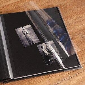 Image 4 - Retro 12 cal wysokiej jakości zamszowe album handmade DIY samoprzylepne, fotografia, księga, pary pamiątkowe zdjęcie ślubne kolekcja