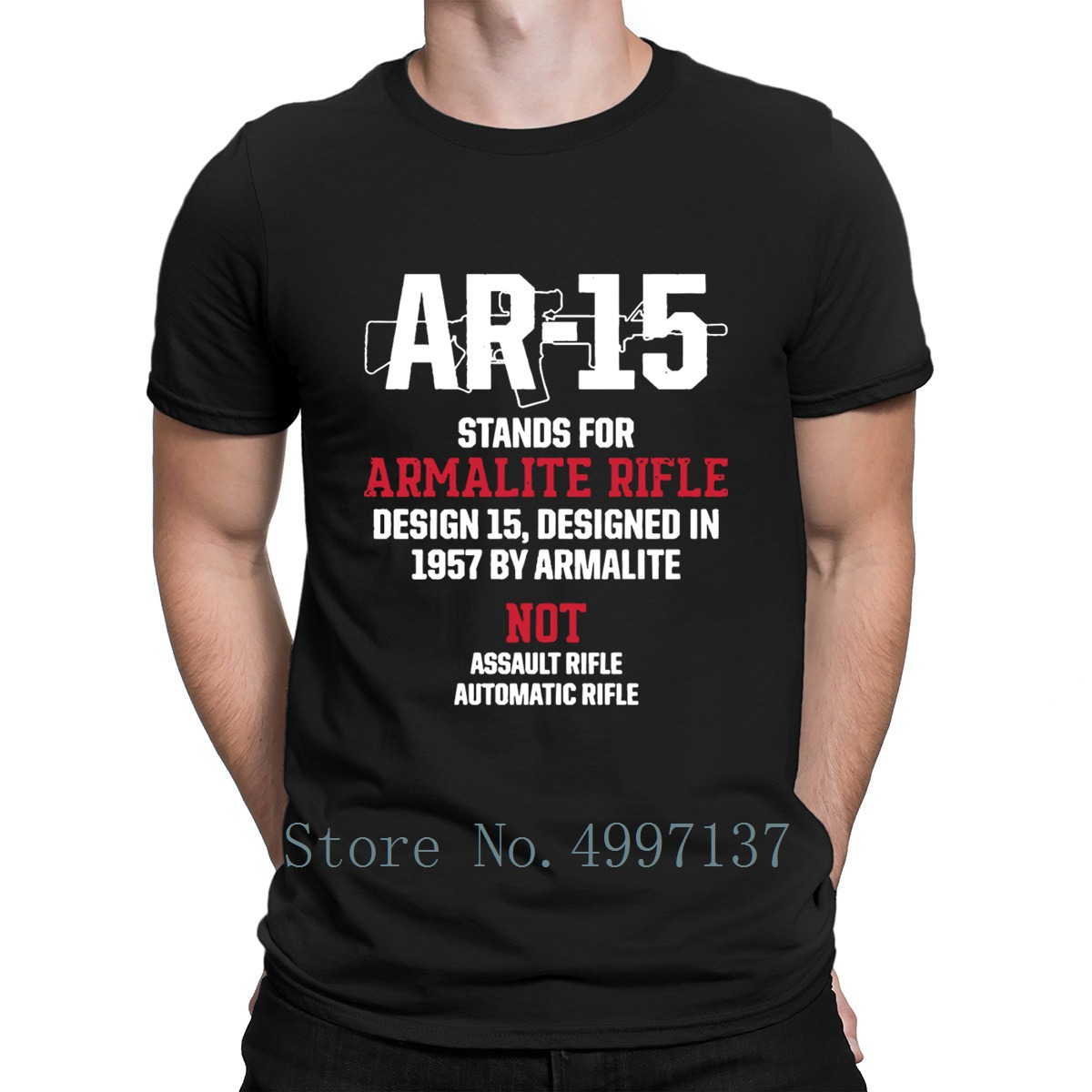 Patriotic Ar15 V5 M 0019 <font><b>Ar</b></font> 15 Stands For Armalite T <font><b>Shirt</b></font> Spring Autumn Pictures S-Xxxl 100% Cotton Funny Casual Designs <font><b>Shirt</b></font> image