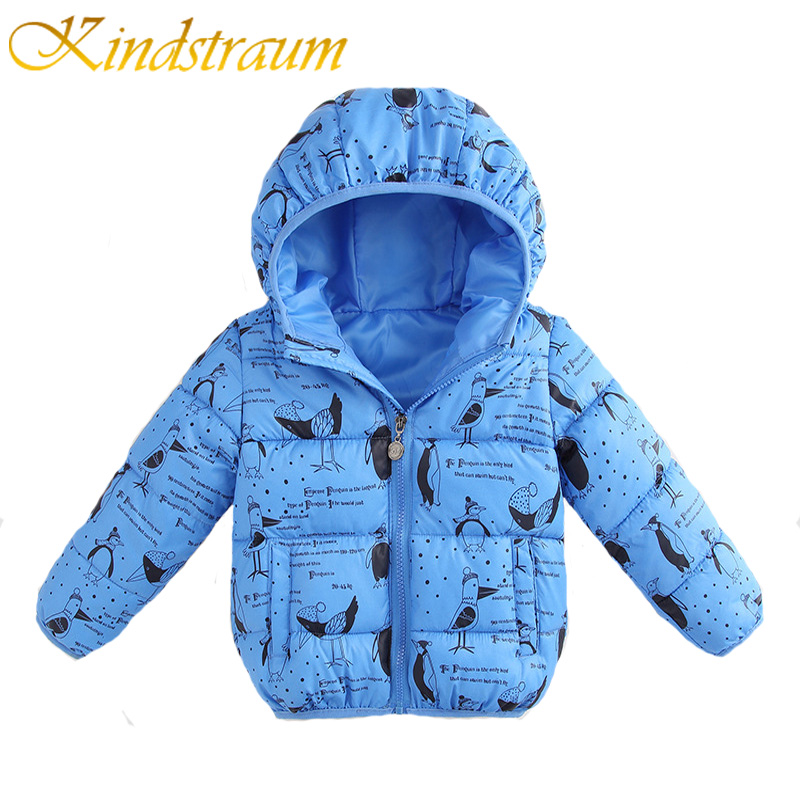 Kindstraum 2017 New Kids Winter Warm Jacket Hooded for Boys & Girls Fashion Kids Coat Children Casual Thick Outwear, MC757 2016 winter dinosaur monster jacket fashion girls boys cotton hooded coat children s jacket warm outwear kids casual wear 16a12