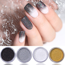 8 Colors Shiny Laser Holographic Nail Glitter Powder for Art UV Gel Polish Tip Decor  Dust Craft