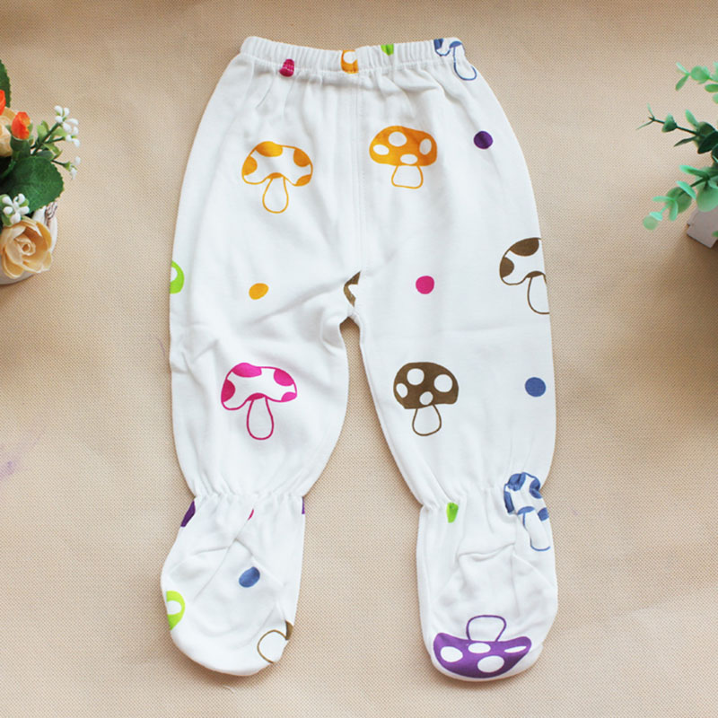 1Set Children Infant Clothes With Pants Long Sleeves Cute Pattern Cotton Blend