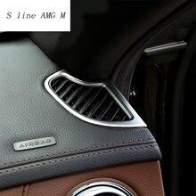 Car styling Chrome Стикеры приборной панели выходе Кондиционер Обложка отделка для Mercedes Benz S Class W222 интерьер авто аксессуары