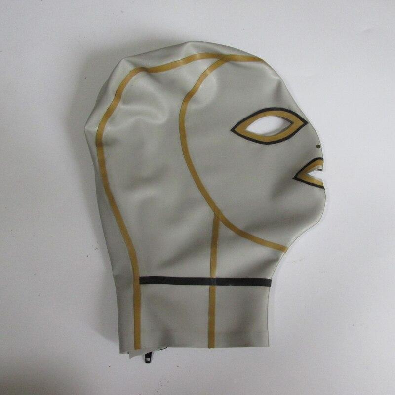 0.4mm latekshõbedane unisexi seksikas tihe mask lateksist - Kostüümid - Foto 2