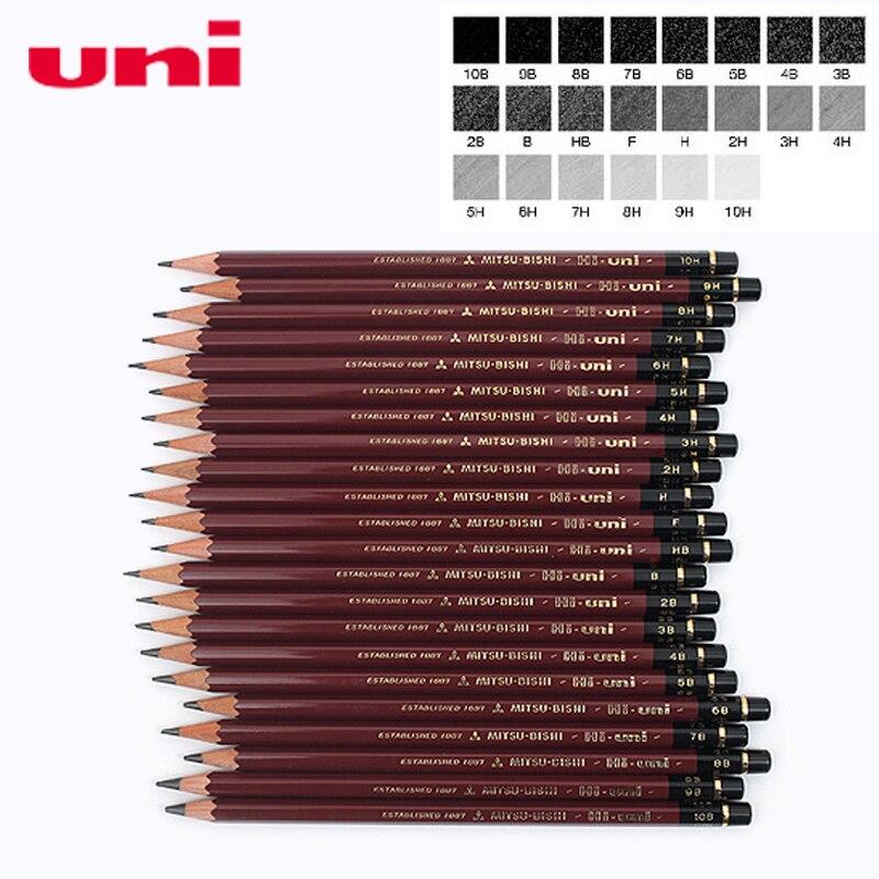 6 Pcs/lot Mitsubishi Uni HI-UNI 22C Most Advanced Drawing Pencil 22 Type Of Hardness Standard Pencils  Office & School Supplies