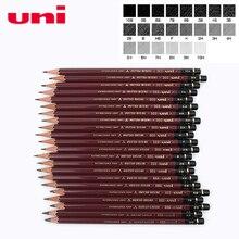 Lápiz de dibujo avanzado Mitsubishi Uni HI UNI 22C, 6 unids/lote, 22 tipos de dureza, lápices estándar, suministros para oficina y escuela