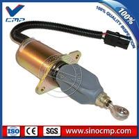 DH300 7 24v Engine Stop Switch 3935650 Shutdown Shutoff Flameout Solenoid SA 4764 24