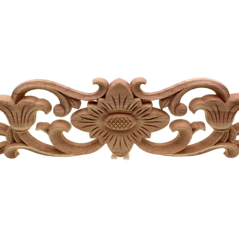 RUNBAZEF Vintage Floral Wood Carved Corner Applique Wooden Carving ...