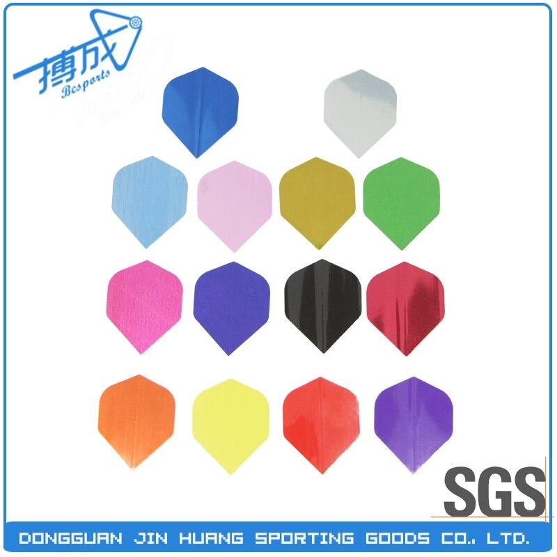 1500pcs 100 Micron One Color Metal Dart Flights For Wholesale