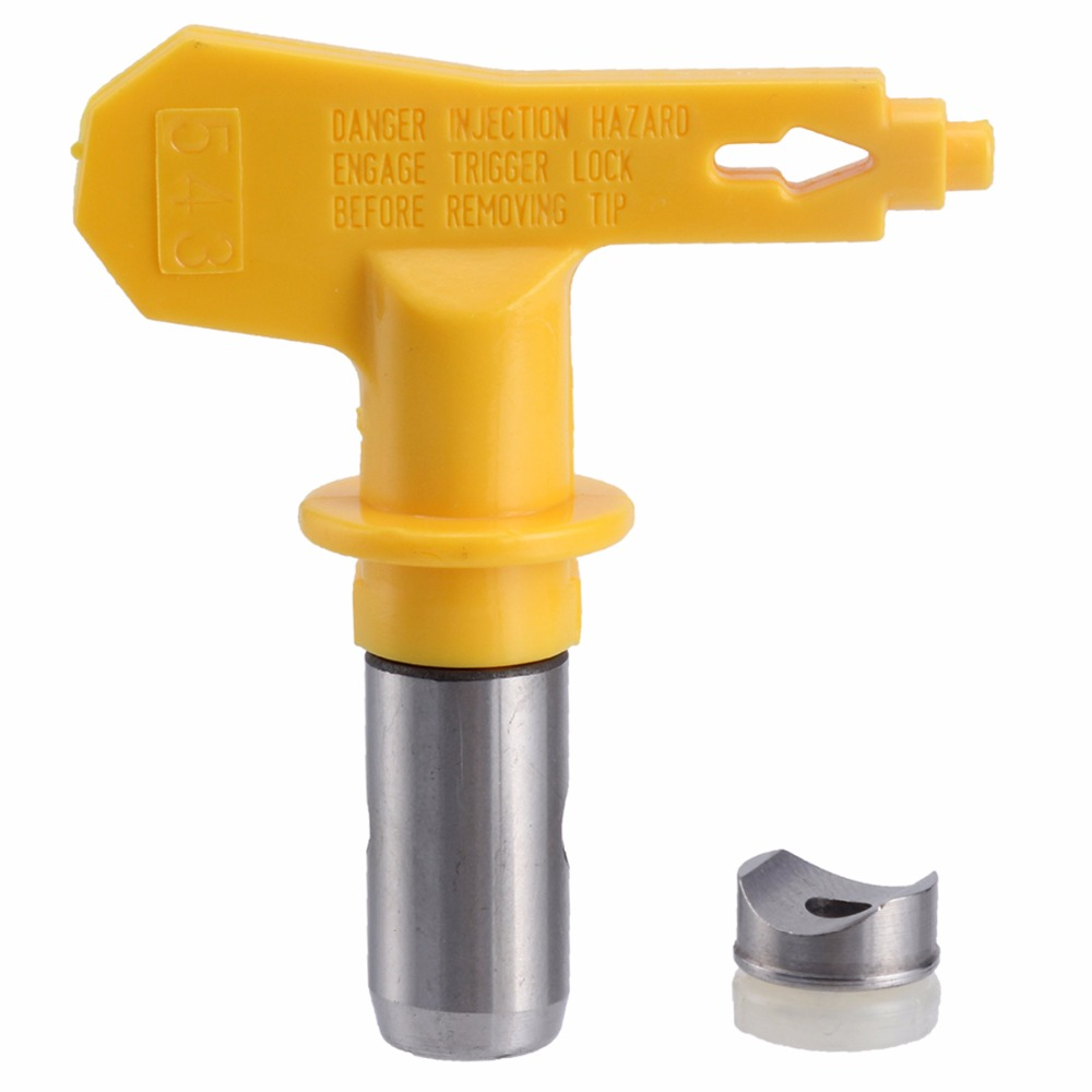 Airless Paint Spray Sprayer Tip For Graco Titan Wagner Nozzle Tool Kit 2/3/4/5 series Yellow high pressure 3600psi airless paint spray gun for titan wagner graco sprayer power tools